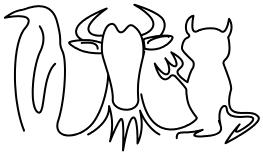 tux devil gnu
