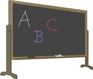 blackboard_with_standletters